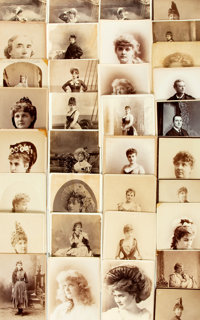 [Theatre] Group of Approximately Thirty-Four Cabinet Cards Featuring Actors and Actresses. Mary Mannering cabinet pho