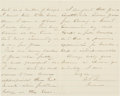 Autographs:Military Figures, William T. Sherman Autograph Letter Signedz...