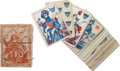 Military & Patriotic:Civil War, Boxed Set of Civil War Playing Cards, American Card Company, 1862....