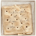 Military & Patriotic:Spanish American War, Inscribed Spanish American War Hard Tack...