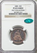 Proof Seated Quarters, 1885 25C PR65 Cameo NGC. CAC. Briggs 3-B....