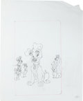 Animation Art:Production Drawing, Lady and the Tramp II: Scamp's Adventure DVD Box ConceptDrawing Group (Walt Disney, 2001).... (Total: 12 Items)