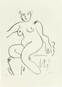ROBERT DE NIRO (American, 1922-1993) Untitled (three works), 1968 Lithographs in colors 17 x 21-3