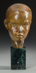 Sculpture, RAYMOND BARTHE (American, 1901-1989). Julius. Bronze with brown patina. 8 inches (20.3 cm) high on a 3-1/2 inches (8.9 c...