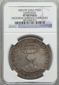 Chile, Chile: Republic Peso 1820-FD VF Details (Excessive SurfaceHairlines) NGC,...