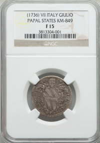 Italy: Papal States. Clement X Giulio ND (1736) Anno 7 F15 NGC