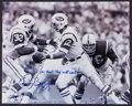 Football Collectibles:Photos, Emerson Boozer Signed Oversized Photograph....