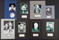 Baseball Collectibles:Others, 1950's-90's Lee MacPhail, Casey Stengel, Bucky Harris, Ford Frick,etc. Signed Cut Photograph Displays Lot of 8....