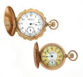 Timepieces:Pocket (post 1900), Two Waltham Hunter's Case Pocket Watches. ... (Total: 2 Items)
