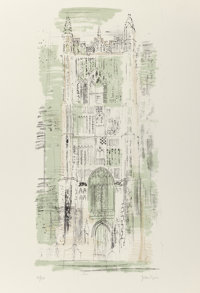 JOHN PIPER (British, 1903-1992) Redenhall, Norfolk Lithograph 32-1/4 x 23-3/8 inches (81.9 x 59.4