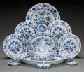 Ceramics & Porcelain, Continental:Other , AN ASSEMBLED SIXTY-EIGHT PIECE MEISSEN BLUE ONION PATTERNPORCELAIN DINNER SERVICE. Meissen Porcelain Manufactor... (Total:68 Items)