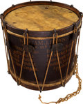 Military & Patriotic:Civil War, Civil War 95th Pa, Gosline's Zouaves, Regimental Drum Carried by Musician William J. Brown....