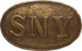 Military & Patriotic:Civil War, Civil War New York Militia Waist Belt Plate with Identification to George Robertson, New York 1st Cavalry, who Died as a Resul...