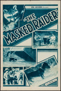 "Movie Posters:Documentary, The Masked Raider (Principal Pictures, 1930s). One Sheet (27"" X 41""). Documentary.. ..."
