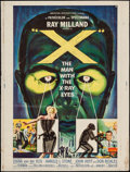 """Movie Posters:Science Fiction, X - The Man with the X-Ray Eyes (American International, 1963).Poster (30"""" X 40""""). Science Fiction.. ..."""