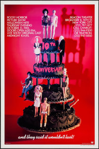 "The Rocky Horror Picture Show (20th Century Fox, R-1985). Tenth Anniversary One Sheet (27"" X 41"") Birthday Cak..."