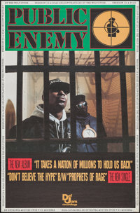 """Public Enemy Promo Poster & Other Lot (Def Jam Recordings, 1988). Music Posters (53) (18"""" X 24"""" & 30&q..."""