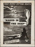 "Movie Posters:Sexploitation, Naked in the Deep (1962). Poster (30"" X 41""). Sexploitation.. ..."
