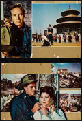 "Movie Posters:Adventure, 55 Days at Peking & Other Lot (Allied Artists, 1963). ItalianPhotobustas (4) (19"" X 26.5"" & 22"" X 28.25""). Adventure.. ...(Total: 4 Items)"
