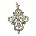 Estate Jewelry:Pendants and Lockets, Diamond, Silver-Topped Gold Pendant. ...