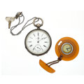 Timepieces:Pocket (post 1900), Jules Huguenin & Debonnaire Pocket Watches. ... (Total: 2Items)