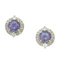 Estate Jewelry:Earrings, Tanzanite, Diamond, White Gold Earrings, Orianne. ...