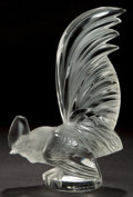 Art Glass:Lalique, A LALIQUE CLEAR AND FROSTED GLASS COQ NAIN MASCOT, post1945. Marks: LALIQUE, FRANCE . 8 inches high (20.3 c...