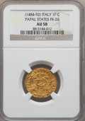 Italy:Papal States, Italy: Papal States. Innocent VIII (1484-92) gold Fiorino di CameraND AU58 NGC,...