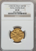 Italy:Papal States, Italy: Papal States. Julius III gold Scudo d'oro Anno II (1551)XF40 NGC,...