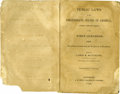"""Military & Patriotic:Civil War, Confederate Congressional Imprint, """"Public Laws of the Confederate States of America, Passed at the First Session of the Fir..."""