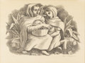 Texas:Early Texas Art - Drawings & Prints, EDMUND KINZINGER (1888-1963). Taxco Women, 1941. Lithograph.10.5in. x 14in.. Signed and dated lower right. After flee...