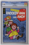 Bronze Age (1970-1979):Cartoon Character, Raggedy Ann and Andy #1 File Copy (Gold Key, 1971) CGC NM 9.4 White pages. Overstreet 2006 NM- 9.2 value = $38. CGC census 1...