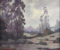Paintings, W. FREDERICK JARVIS (1898-1966). Early Morning Near Pasadena California, 1920s. Oil on canvas. 25in. x 30in.. Signed low...