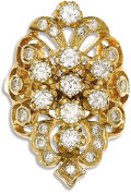 Estate Jewelry:Rings, Diamond, Gold Ring. The ring features full-cut diamonds weighing atotal of approximately 2.00 carats, set in 14k yellow g...