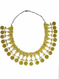 Estate Jewelry:Necklaces, Gold Necklace. The handmade necklace is crafted in 14k yellow gold,complete with discs bearing stampings of King Farouk. ...