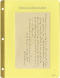 "Autographs:Military Figures, Group Lot of Ten Confederate Generals' Autographs consisting of: . Frank C. Armstrong- Nice signature card with ""Brig...."