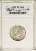 Coins of Hawaii: , 1883 25C Hawaii Quarter--Cleaned--ANACS. AU58 Details. NGC Census:(44/505). PCGS Population (71/834). Mintage: 500,000. (...