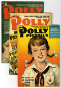 "Golden Age (1938-1955):Non-Fiction, Polly Pigtails Group - Davis Crippen (""D"" Copies) pedigree (Parents' Magazine Institute, 1948-49). Wonderful comics and stor... (Total: 5 Comic Books)"