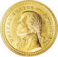 Commemorative Gold: , 1903 G$1 Louisiana Purchase/Jefferson MS66 PCGS. The surfacesdisplay a semi-frost finish imbued with peach-gold patina and...