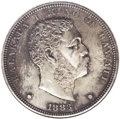 Coins of Hawaii: , 1883 $1 Hawaii Dollar--Corroded, Cleaned--ANACS. MS60 Details. Wellstruck with considerable ...
