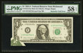 Error Notes:Foldovers, Fr. 1912-E $1 1981A Mule Federal Reserve Note. PMG Choice About Unc58 EPQ.. ...