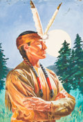 "Original Comic Art:Covers, Classics Illustrated #57 ""The Song of Hiawatha"" CoverOriginal Art (Gilberton, 1956)...."