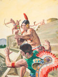 Original Comic Art:Covers, George Wilson Indian Chief #27 Cover Original Art (Dell,1957)....