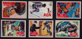 Non-Sport Cards:Sets, 1966 Topps Batman - Blue Bat Complete Set (44). ...