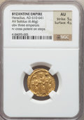 Ancients:Byzantine, Ancients: Heraclius (AD 610-641). AV solidus (4.46 gm)....