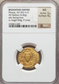 Ancients:Byzantine, Ancients: Phocas (AD 602-610). AV solidus (4.46 gm)....