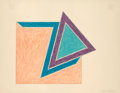 Fine Art - Work on Paper:Print, FRANK STELLA (American, b. 1936). Moultonboro, 1974.Lithograph and screenprint in colors on Arches paper. 17-1/4 x22-1...