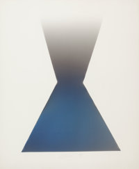 LARRY BELL (American, b. 1939) KF 12, 1978 Vapor drawing on paper 42 x 30 inches (106.7 x 76.2 cm