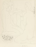 Fine Art - Work on Paper:Print, PABLO PICASSO (Spanish, 1881-1973). Trois Femmes nues près d'uneFenêtre (from La Suite Vollard), 1933. Etching on M...
