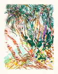 Prints, MALCOLM MORLEY (British, b. 1931). Coconut Grove, 1987. Lithograph in colors on Arches paper. 28-1/2 x 21-7/8 inches (72...